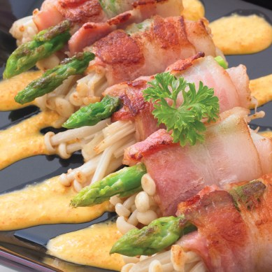 Fried Bacon Roll