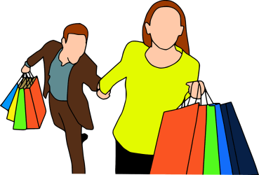 shopping quick statement humor better mall decade pixabay whether needs goes credit every clothes he