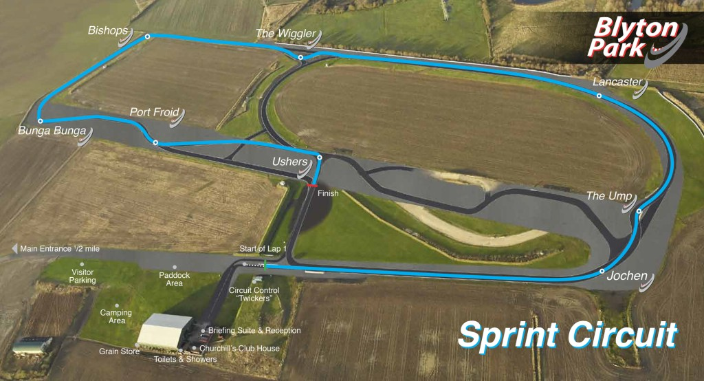 Blyton Park Sprint Circuit Map