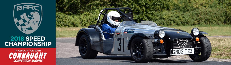 Silver & Black Caterham at The John Clarke Sprint 2018