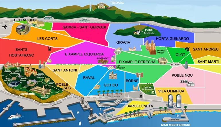 barrios mapa