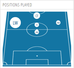 Positions Played - Memphis Depay