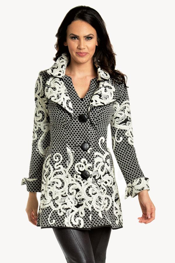 Floral Knit Cardigan Jacket