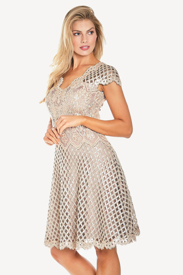 Sequined Flounce Cocktail dress