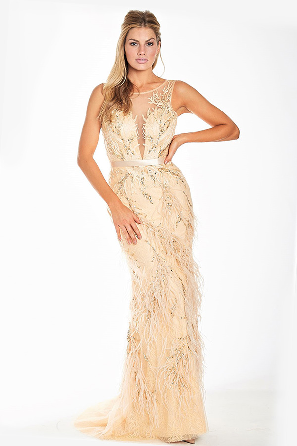 Hollywood Glamour Gown - Gold