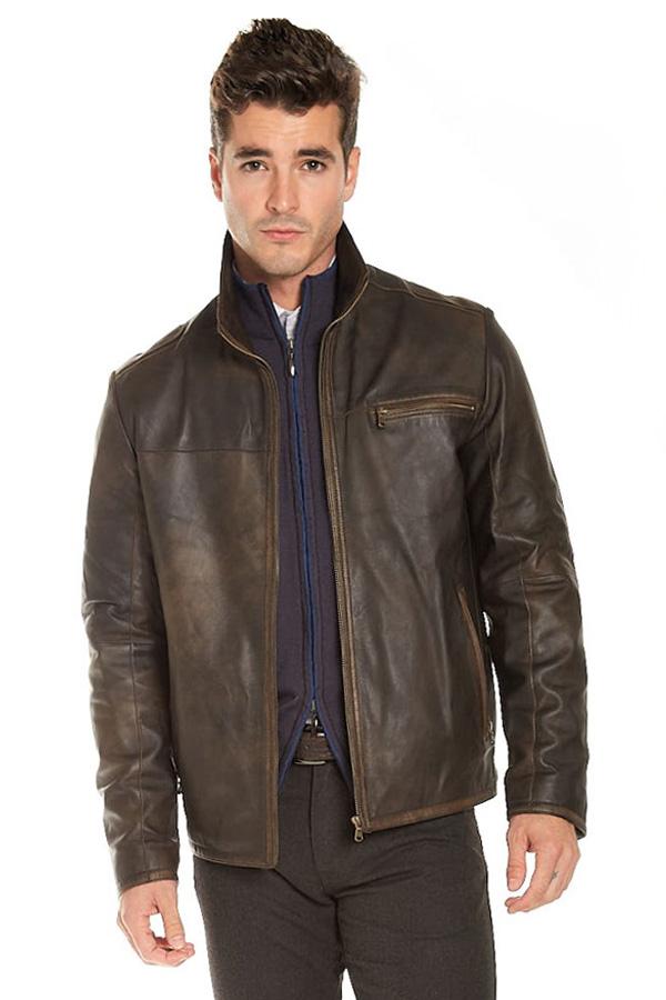 Leather Zip Blouson Vintage Soft Lamb