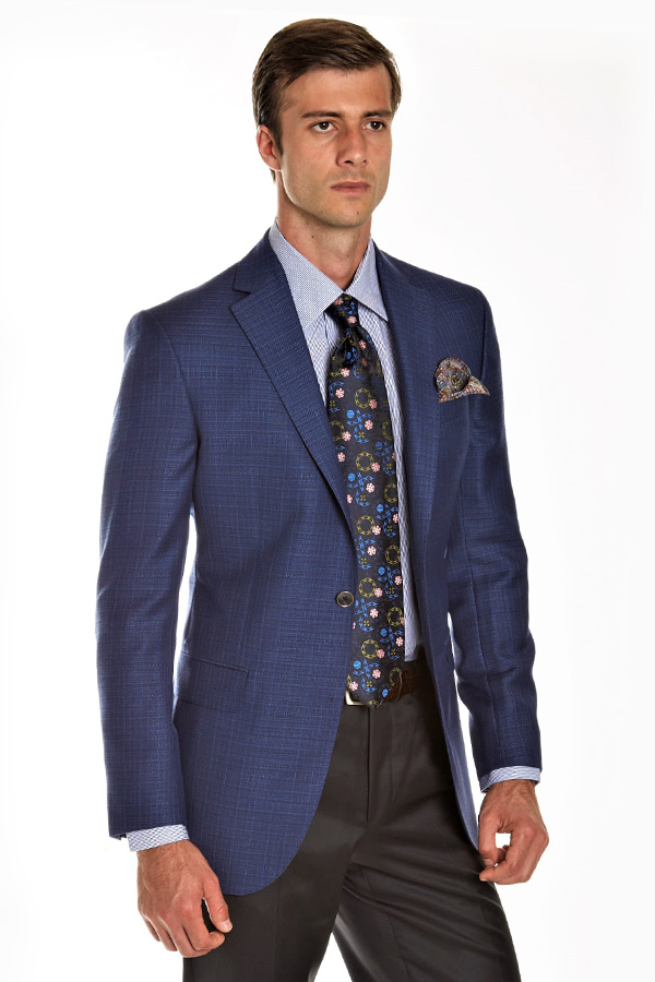 Travel Blazer in Hopsack Design
