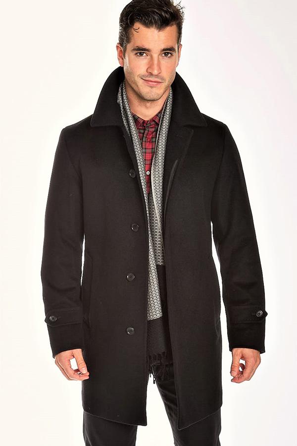 Coat-Zip Mock Pure Wool Outwear
