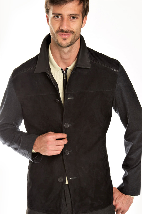 Torras Suede Jkt 55% silk back/sleeves