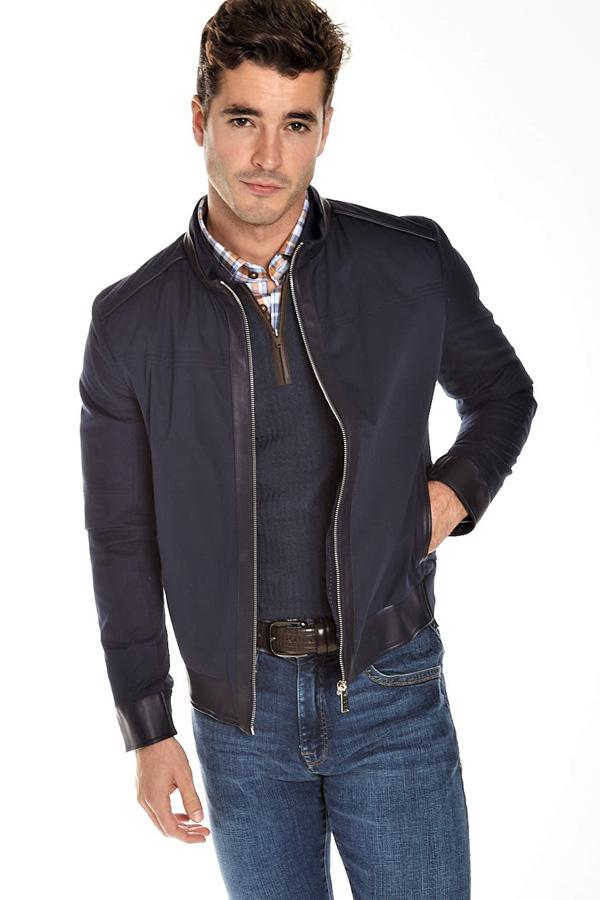 Torras Leather-trim Zip Outwear