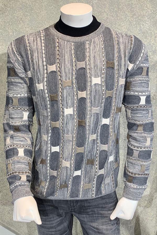 Crew Neck Sweater in Piece Interlock design.