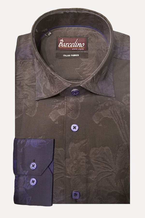 Italian fabric design in Degrede Jacqrd. Modern Fit shirt, so that stays trim to your body comfortably all day long.