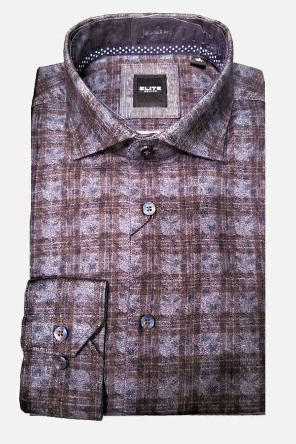 men's plaid button down sports shirt by Elite