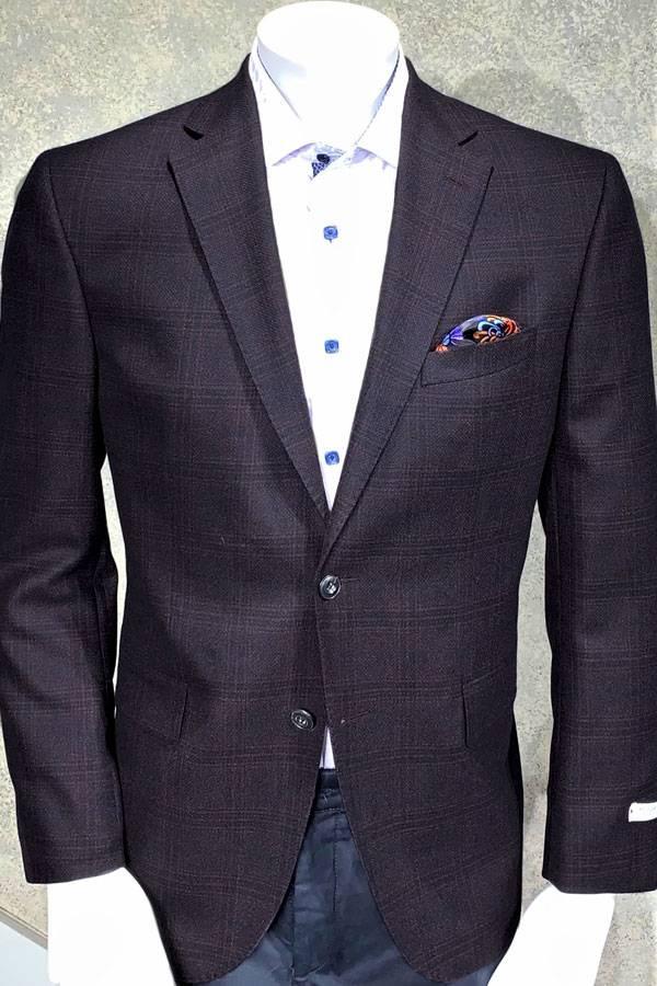 Jacket Maxi Dbl Check Tweed