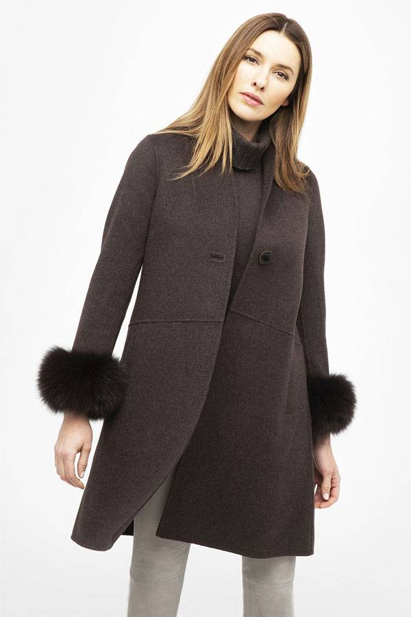 Kinross Wool Cashmere Coat