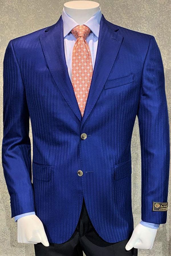 Loro Piana Cashmere Cloud Quality (93% Cashmere/7% Silk) Jacket in Chevron Pattern