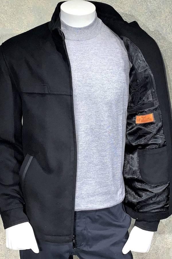 Cashmere Melange Zip Outerwear