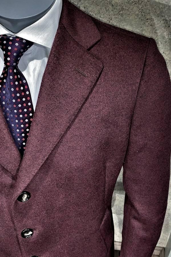 Italian Fashion Top Coat in Cashmere/Wool Melange