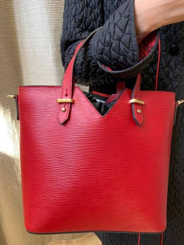 Leather Wave Italian Made Purse