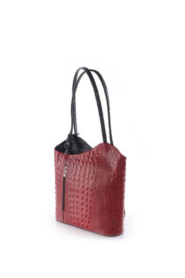 Leather Convertible Backpack/Purse