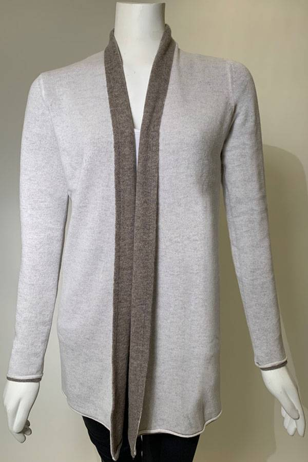 Reversible 100% Cashmere Cardigan
