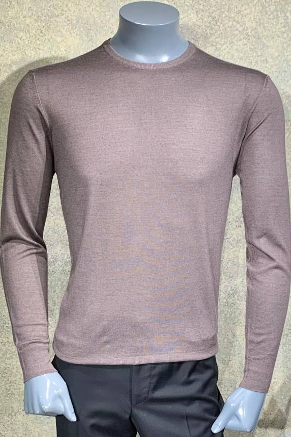 Silk/Wool Solid Crew Sweater