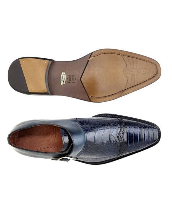Ostrich Paw and Italian Calf Shoe in Monk Strap Design