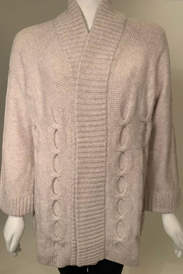 100% Cashmere Cable Cardigan