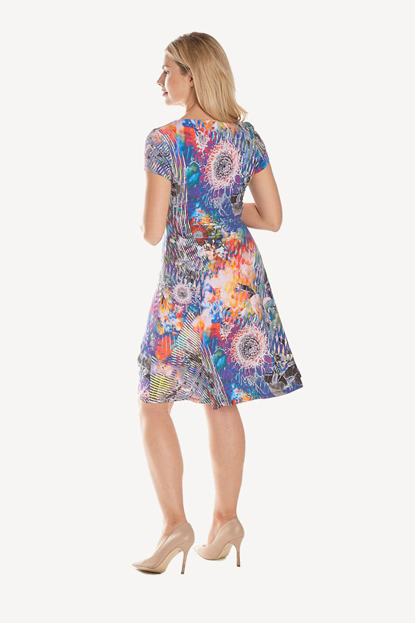 Short Sleeved Jersey printed dress