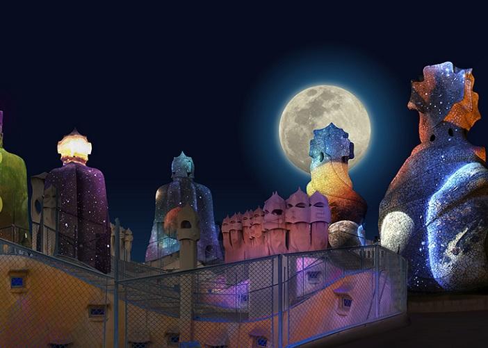 Gaudis Pedrera The Origins Night Show Casa Mila