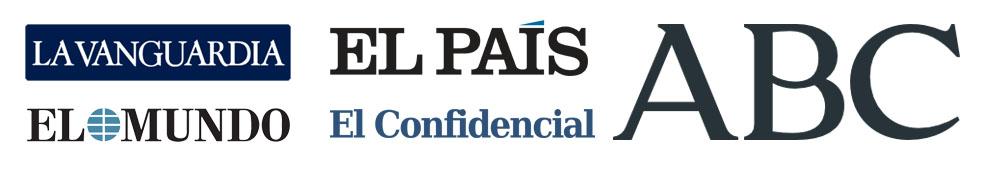 los logotipos de periodicos y diarios más leídos digitalmente en españa