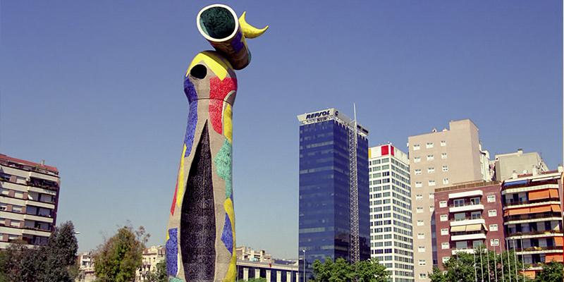 obra de arte en Barcelona de Joan Miró