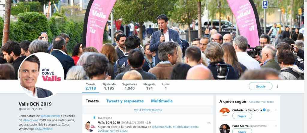 Cuenta de Twitter de Manuel Valls