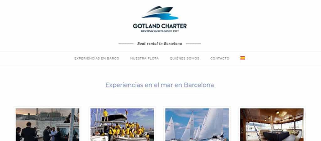 Pantallazo web Gotland Charter