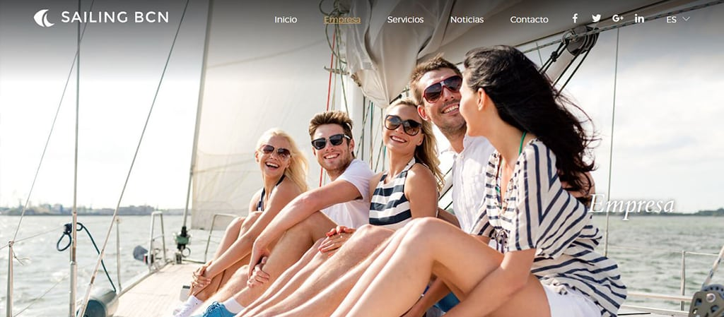 Pantallazo web de Sailing BCN