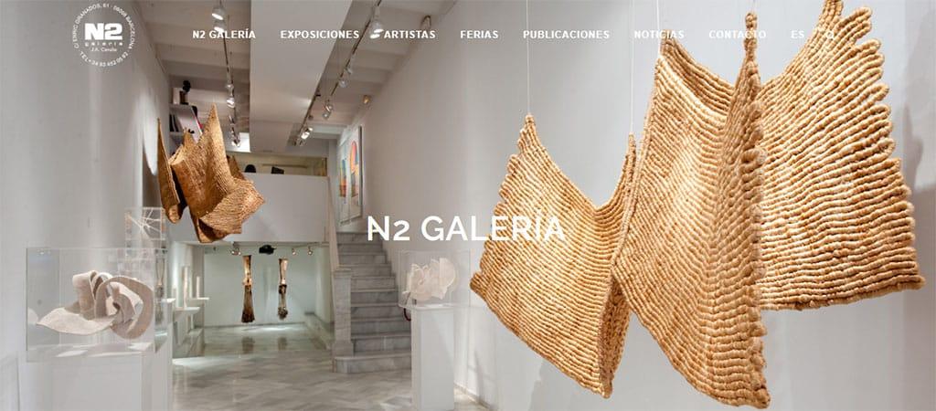 Captura de pantalla de la web de N2 Galería