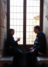 day 2_The Royal Abbey of Santa Maria de Poblet Cistercian monastery visit (Mercè Berengué and Clemson University landscape undergraduate student Ryan Koehler)