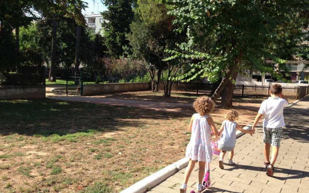 El parque del Palau Falguera en Sant Feliu de Llobregat