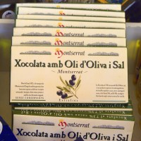 Chocolate with olive oil and salt