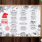 10 Awesome Christmas Restaurant Menu Templates Barcelona Design Shop