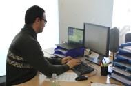 Albert Soret a la seva zona de treball.