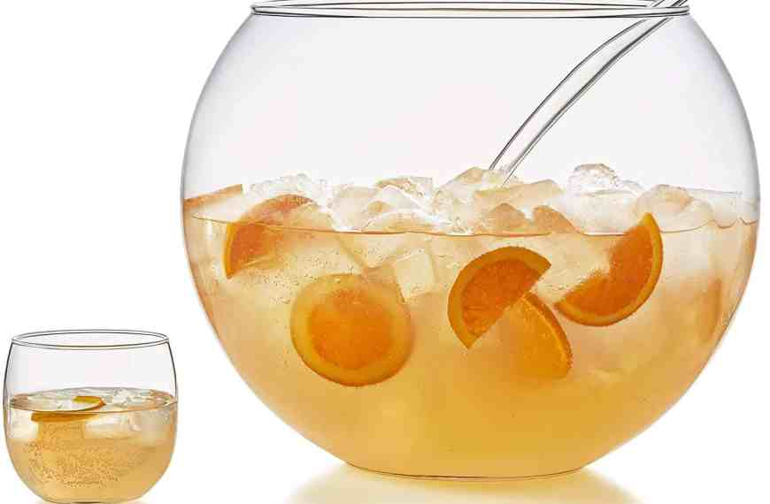 Gin punch: a giant cocktail served in a bowl