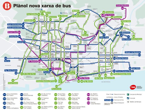 Barcelona Transit Map – History of study and education