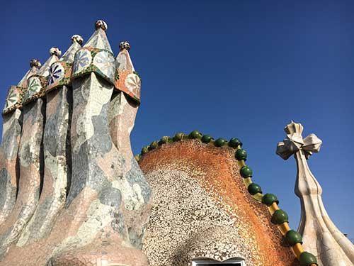 Gebouwen van Antoni Gaud in Barcelona