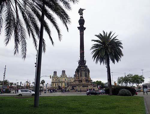 Columbus standbeeld Barcelona  Monumento a Coln