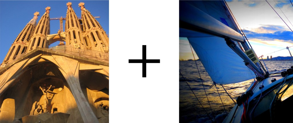 Sagrada familia Sail Tour the best combination of sports and culture