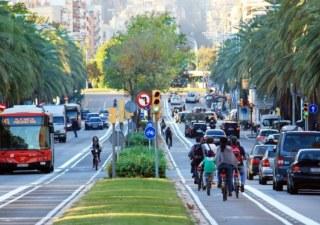 carril bici de Barcelona