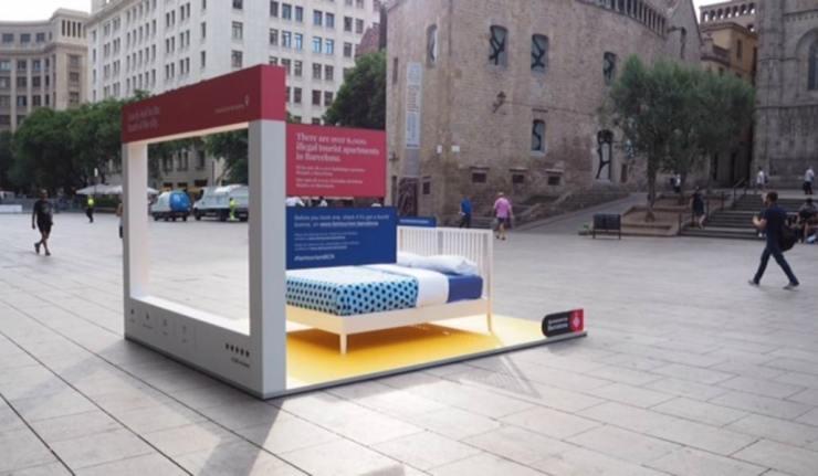 camas en la calle