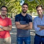 The three Co-Founders of HiJiffy, a Portuguese startup in the NUMA Barcelona growth acceleration program
