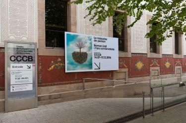 CCCB in de wijk El Raval in Barcelona entree
